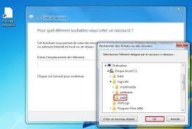 raccourci afficher bureau windows créer un raccourci logiciel sur le bureau clubic