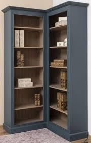 casa padrino landhausstil eckschrank blau beige 102 x 102 x h 210 cm massivholz bücherschrank landhausstil wohnzimmer möbel