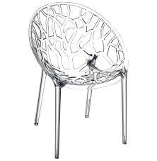 chaise moderne geo transparente en matière plastique