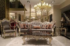 casa padrino luxus barock wohnzimmer set grau dunkelbraun gold 2 sofas 2 sessel 1 couchtisch 2 beistelltische wohnzimmer möbel im