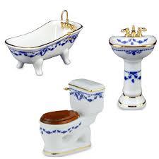 reutter porzellan miniatur badezimmer set 3 teilig galerista