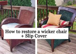 Restoring a wicker chair Slip Cover