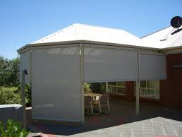 Roll Up Patio Shades by Outdoor Patio Screen Blinds
