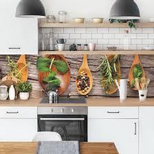 küchenrückwand kräuter und gewürze küchenrückwandfolie