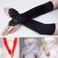 online get cheap long satin bridal gloves aliexpress com