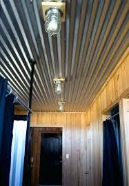 Corrugated Metal Ceiling Garage Pallet Walls Ideas Practical And Stylish Basement Home Interior