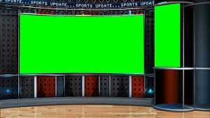 Virtual News Studio Green Screen Background Motion