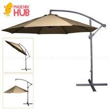 PhoenixHub All New 2018 Heavy Duty Multi Functional Umbrella Beach Patio Garden 267x267x244cm