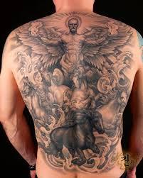 Full Back Angel Tattoos