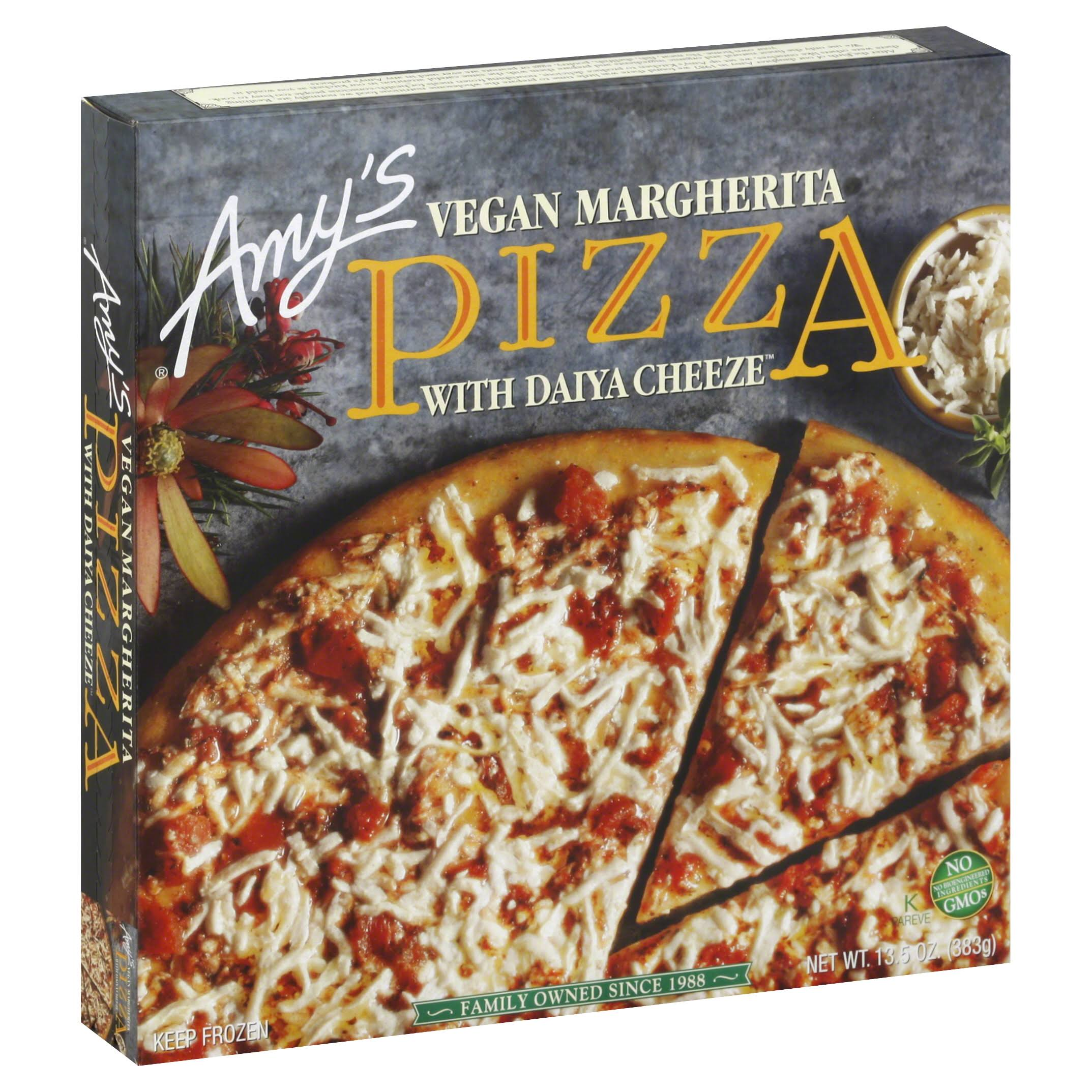 Amys Pizza, Vegan Margherita, with Daiya Cheeze - 13.5 oz