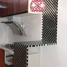 black and white mosaic bathroom floor tiles pyramid 3d glass