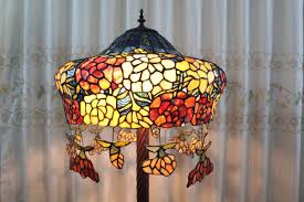 Tiffany Style Lamp Shades by Tiffany Style Floral Hat Shape Floor Lamp With Pendants Parrotuncle