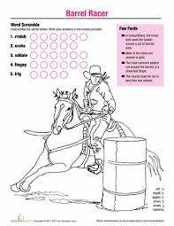 Horse Fun Barrel Racer Coloring PagesColoring