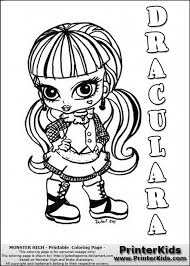 Monster High Babies Free Coloring Pages On Art Intended For Baby