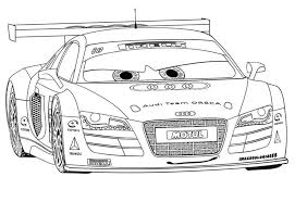 Free Printable R8 Racing Cars Coloring Pages