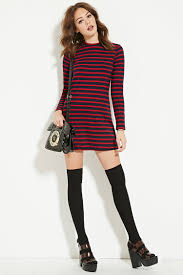 forever 21 striped sweater dress lyst