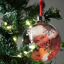 Round Photo Frame Ornament Christmas Holiday Decoration For Tree 3 Inch