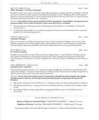 Good Resume Examples For Office Assistant Also Administrative