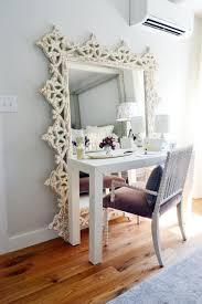 Elegant Luxury Single Chair And Fabulous White Makeup Desks Mirror
