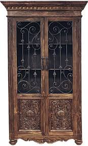Southwest Furniture Tall Iron Door Cabinet