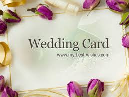 Wedding Card Sayings Wishes Messages