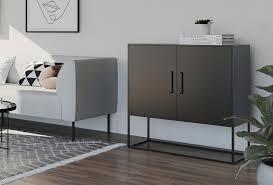 homexperts sideboard rich aus metall breite 85 cm kommode in schwarz