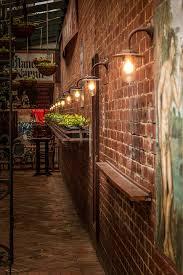 free photo brick wall lights mural plants fashioned max