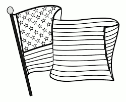 Great American Flag Coloring Page