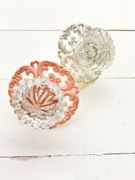 Glass Starfish Cabinet Knobs by Scalloped Glass Drawer Knobs Brass Back Plate Cabinet