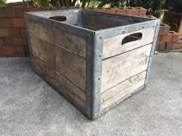 Image Is Loading Vintage Wooden Milk Crate Borden 039 S Dairy