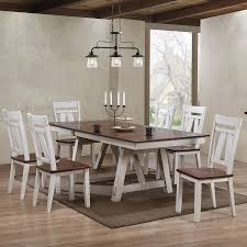 Winslow Rectangular Dining Room Set (Two-Tone) By Bernards ... Whitesburg Ding Room Side Chair Set Of 2 D58302 Signature Nevada Breakfast Table And Two Chairs Hamilton Home Sanctuary 3 Piece Pedestal Windsor Amazoncom Best Choice Products 3piece Wooden Kitchen Raleigh Light Blue Fabric In 2018 Standard Fniture Fairhaven Rustic Twotone Contemporary With Glass Top And Bas Rectangular Joveco Modern Two Orange Klaussner Outdoor Mesa W7502 Drc 37 Of 4 Zenwillcom Gs Riverside 7 Rectangle Slat Back Abstract Designed