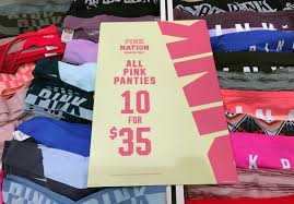Victorias Secret Pink Halloween Panties 2015 by 10 For 35 00 Pink Panties At Victoria U0027s Secret Tonight 5 00 9 00