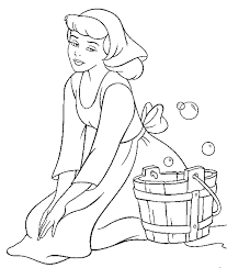 Free Disney Cinderella Coloring Pages For Kids