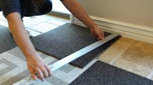 Tiled Carpet by How To Install Carpet Tile Flooring Youtube