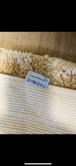 badezimmer teppich vorleger beige pfirsich pastell baumwolle