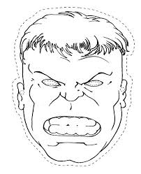 Hulk Coloring Pages The Head Of Page Paper Craft