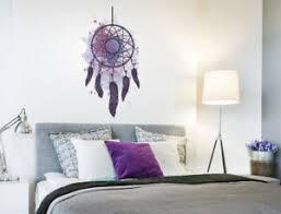 details zu was 11791 wohnzimmer wandtattoo aquarell federn mit traumfänger lila