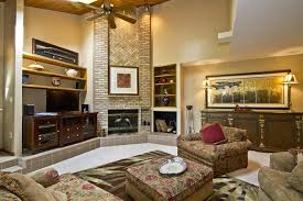 living room high ceiling with fan light ideas with beige fabric