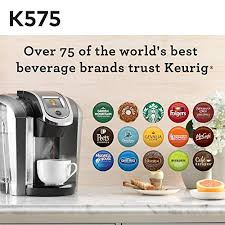 Keurig K575 Single Serve Programmable K Cup Coffee Maker With 12 Oz Brew Size And