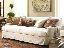 Small Decorative Lumbar Pillows by Furniture 17 Stylish Off White Slipcovered Sofa Small Living