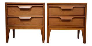 Johnson Carper Mid Century Dresser by Johnson Carper Walnut U0026 Formica Nightstands A Pair Chairish