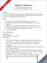 Teacher Aide Resume Example Teaching Assistant Description Rh Gatasarada Org Pre Kindergarten