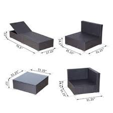Outsunny Patio Furniture Assembly by 841 033cf Outsunny Modern 9 Piece Outdoor Patio Rattan Wicker Sofa