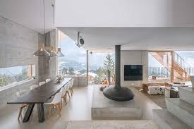 un minimaliste et éclectique design intérieur pour ce chalet de