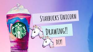 StarBucks Unicorn Frappuccino Drawing DIY MissCreative12