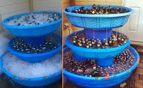 Kiddie Pool Beer Fountain