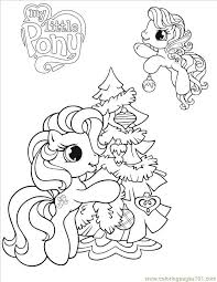 Coloring Pages Little Pony17 Cartoons My Pony