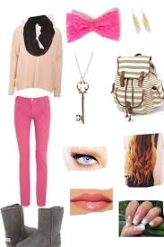 Leggings And Uggs Back Outfit By Polyvore My Style Timberls Timberl Clothes