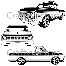 Chevrolet C10 Truck 1970 To 1971 Vector File | Etsy