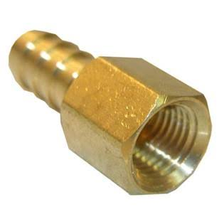 Lasco Brass Hose Barb Adapter - Female Pipe Thread